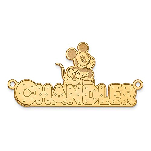 Jewelry Pendants & Charms Personalized GP Disney Nameplate ()