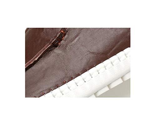 Piedi Uomo di da Primavera di Solido Casual Estate Scarpe Ed Colore Brown Scarpe Traspirante Set xxZAwRSX