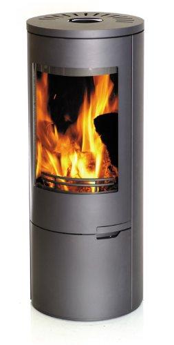 Chimenea horno de leña horno 9 kW redondo, acero: Amazon.es ...