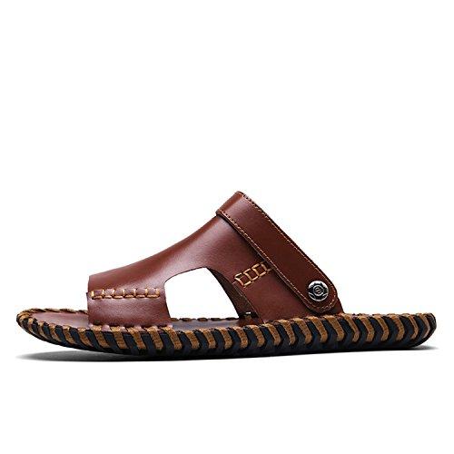 Miyoopark , Sandales Compensées homme - marron - marron,