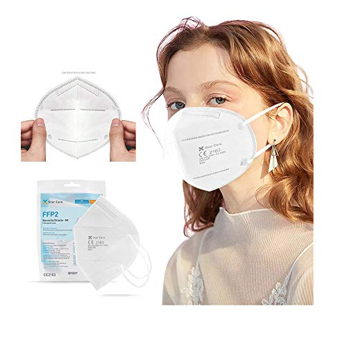 20 Pcs Disposable Face Bandanas Non-Woven No Washable Breathable and Anti-Haze Dust protection for Adults and Kids BiuBuy (White)