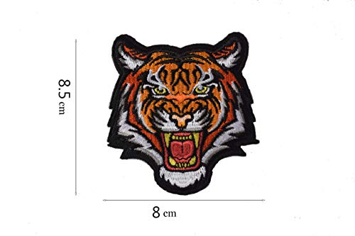 AXEN Tiger Embroidered Iron Applique Patch - The Roaring Bengal Striped Striped Souvenir