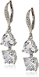 """Judith Jack """"Shine On"""" Sterling Silver Crystal and Cubic Zirconia Stone Drop Earrings"""