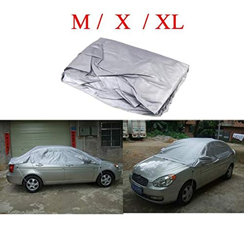 Star-Trade-Inc - Car Cover Prevent Heat Cold Sun Rain Snow Half Auto Cover for Sedan SUV Pickup PVC Coating Cover M XL Optional (Best Snow Tires For Sedans)