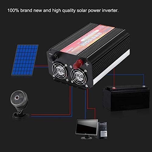 Solar Wechselrichter, Solar Inverter 12V bis 220V 1000W Wechselrichter Solar Wechselrichter für die Heimreise,Wechselrichter Solarstromrichter
