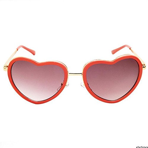 AMAZZANG-Vintage Retro Fashion Heart Shaped Aviator Metal Frame Women Sunglasses Eyewear - Sunglasses For Females Fastrack