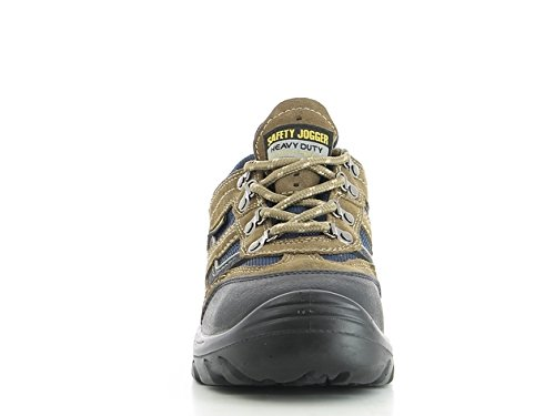 SAFETY JOGGER X2020P Men Hiking Style Safety Toe Lightweight EH PR Water Resistant Shoe, M 13, Brown/Navy