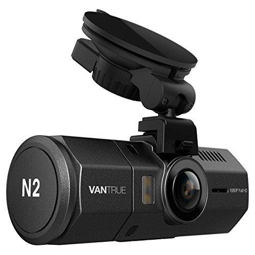 "Vantrue N2 Dual Dash Cam - 1080P FHD Front and Back Near-360° Wide Angle Dual Lens 1.5"" Car Dashboard Camera DVR..."