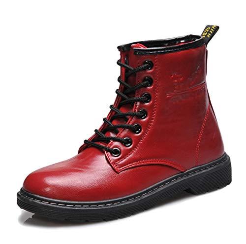 Impermeables Martensbotones Lase Americano Botines Rojo Para Cortos up Combate Otoño Mujeres Estilo Europeo Cuero De Botas Liangxie Algodón Con Y A1Uwdx