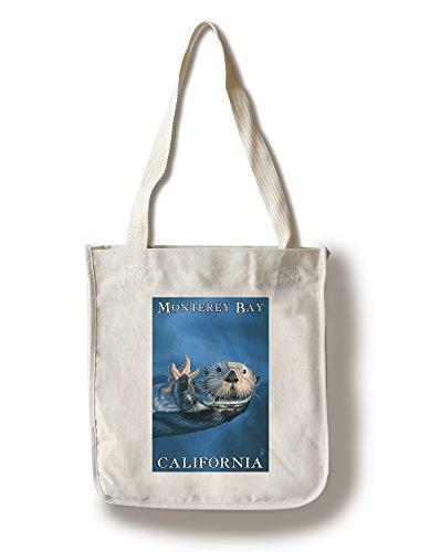 Monterey Bay  California   Sea Otter  100  Cotton Tote Bag   Reusable