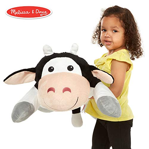 e Cow Jumbo Plush Stuffed Animal (Reusable Activity Card, Nametag, Over 2 Feet Long) ()