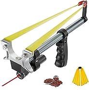SASKATE Hunting Slingshot,Stretchable Professional Slingshot, Infrared Laser Sight Hunting Equipment with 2 El