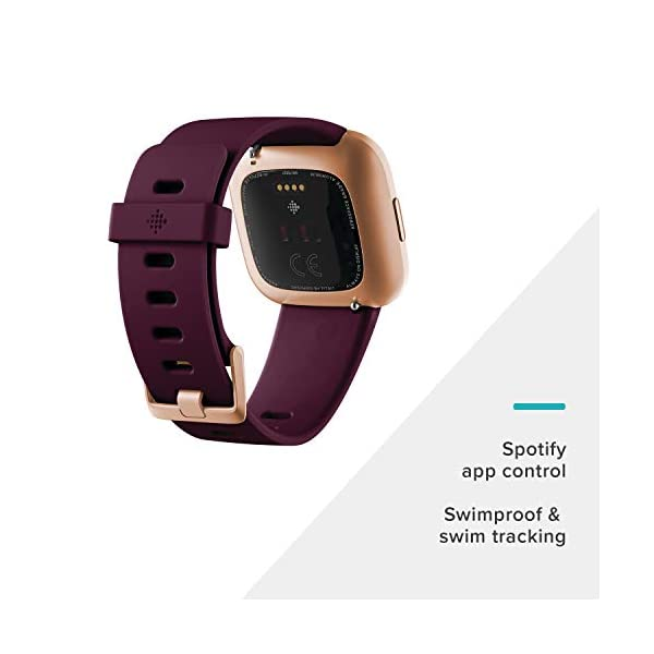 Alexa Built-In, Sleep and Swim Tracking, Bordeaux/Copper Rose, One Size (S and L Bands Included)  Smart Tickers