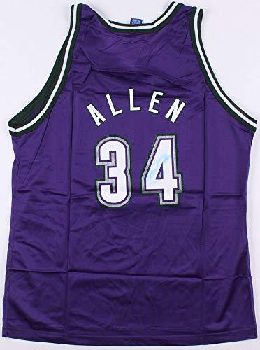 Ray Allen Autographed Signed Memorabilia Milwaukee Bucks Jersey Score Board Coa 10 X NBA All Star - Certified Authentic