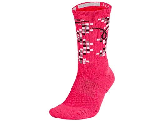 NIKE Unisex Elite Kay Yow Basketball Crew Socks Pink (Large)