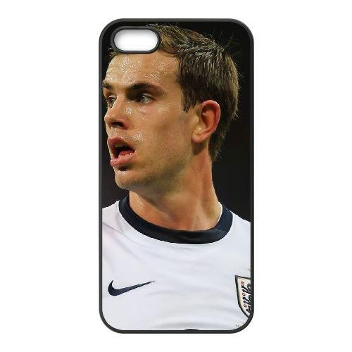 Jordan Henderson coque iPhone 5 5S cellulaire cas coque de téléphone cas téléphone cellulaire noir couvercle EOKXLLNCD24914