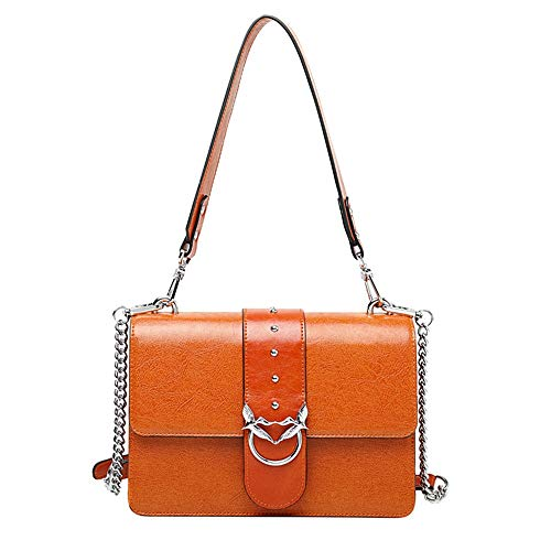 portatile piccolo Diagonal Wangkk Shoulder Wild Multifunzione Women Bag nero Chain Rivet colore Candy quadrato wqSqngF8z