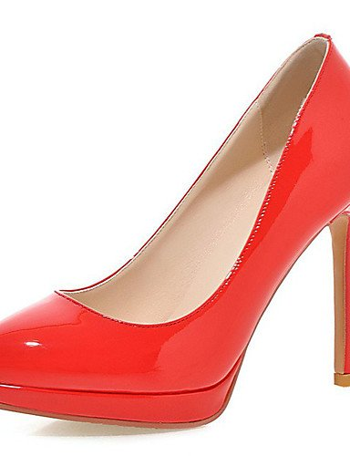 GGX/Damen Schuhe Frühling/Sommer/Herbst/Winter Heels/Plattform/Basic Pumpe/spitz Toe Party Abendkleid/Kleid red-us6.5-7 / eu37 / uk4.5-5 / cn37