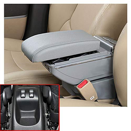 autotoper Armrest Box Adecuado Para PEUGEOT 206 207 2006-2013 de Coche Asiento Consola Central Interior de Piel Para...