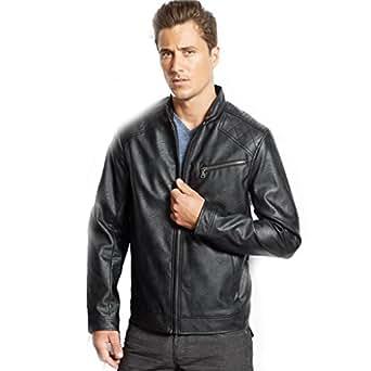 Inc International Concepts Black Chen Bomber Jacket Full Zip Front Men's XXL