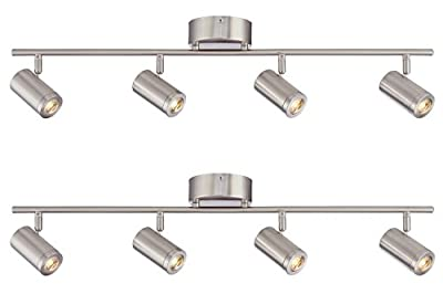 Designers Fountain EVT101227-35D-2 3'. Led Brushed Nickel Track Lighting Kit with 4 Led Track Light (2 Pack)