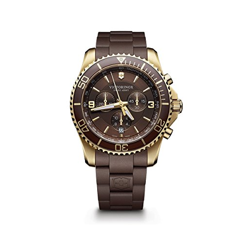 - Victorinox Men's 241692 Maverick Chrono Analog Display Swiss Quartz Brown Watch
