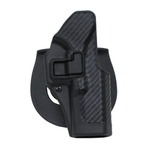 (BLACKHAWK! Serpa CQC 410001BK-R Holster Glock 26,27,33 Carbon Fiber)