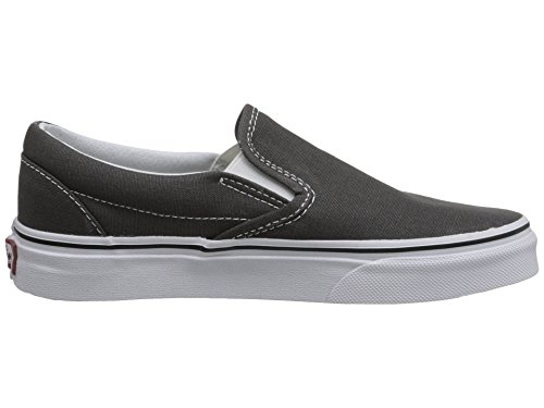 Canvas Trainers on Slip Classic Unisex Charcoal Adults' Vans BCqvAx