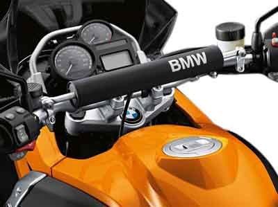 Adventure Motorcycle HANDLEBAR PADDING Black and White BMW Genuine R1200GS