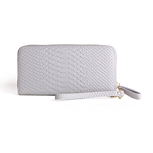 MAVERCE Leather Wallet for Women Zip Around Wallet Clutch Large Travel Purse with Bow-Knot