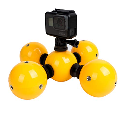 Price comparison product image 5pcs Floating Ball Bobber Float with Lanyard for GoPro Hero5 Hero4 3 3+ 2 1 SJCAM SJ4000 SJ5000 Xiaomi Yi Action Camera Floaty Gadget Underwater Accessories (Yellow)