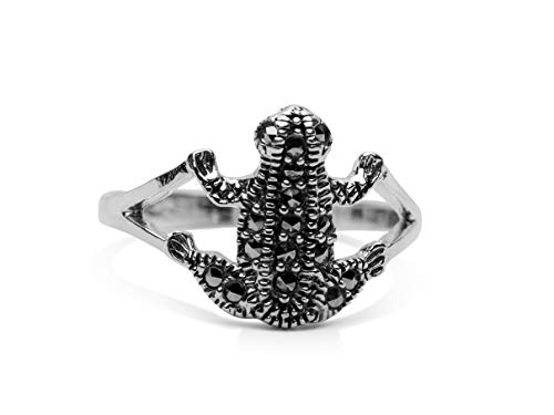 Frog Marcasite - Sterling Silver and Marcasite Frog Ring (6)