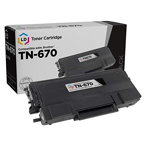 LD Remanufactured Toner Cartridge Replacement for Brother TN670 (Black)