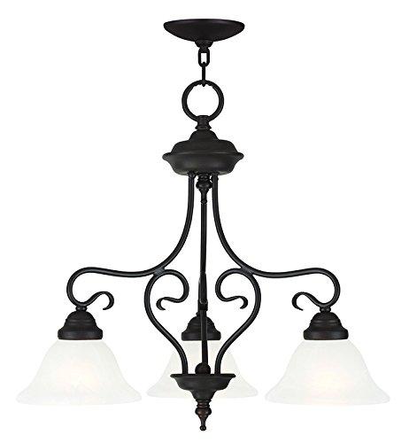 Livex Lighting 6133-07 Coronado 3 Light Convertible Hanging Lantern Dinette/ Ceiling Mount, Bronze