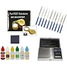 Bullion Testing Kit with Coin Scale: Test Solid and Plated/Clad Tokens, Bars, Ingots, Flakes and More
