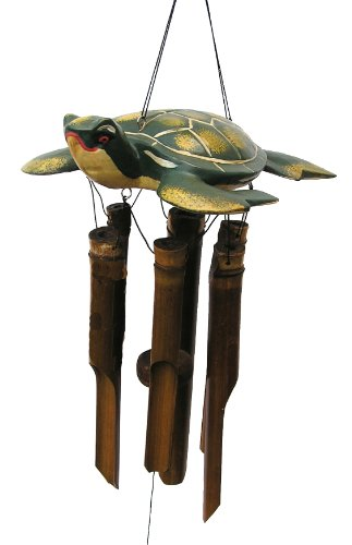 Cohasset Imports 157 Carved Sea Turtle Wind Chime