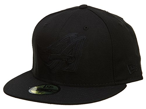 New Era Los Angeles Angels Of Anaheim Fitted Hats Mens Style: HAT640-BLACK Size: 7.625