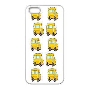 Custom School Bus Shell Case, DIY School Bus Cover for iPhone 5,5S
