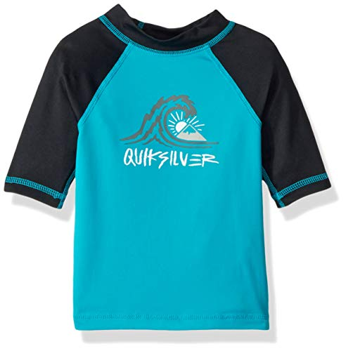Quiksilver Little Bubble Dream Short Sleeve BOY SURF TEE Rashguard, Typhoon, 5