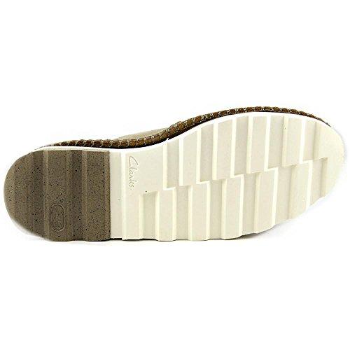 Clarks Dakin Top Resistente Allacciatura Casual Boot - Uomo Sabbia
