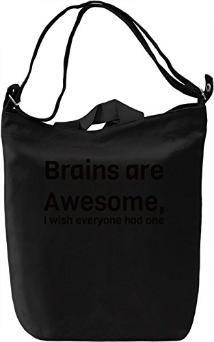 Brains are Awesome Borsa Giornaliera Canvas Canvas Day Bag| 100% Premium Cotton Canvas| DTG Printing|