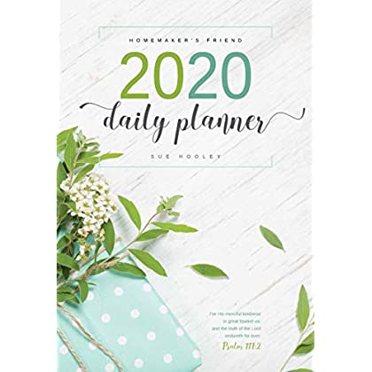 Daily 2020 Planner: The Homemaker's Friend
