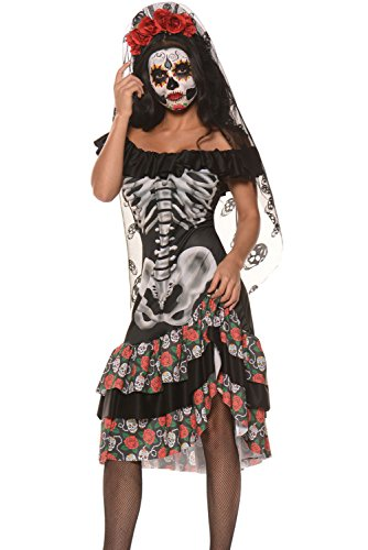 Jug&Po Womens Queen of The Dead Halloween Party Cosplay Costume