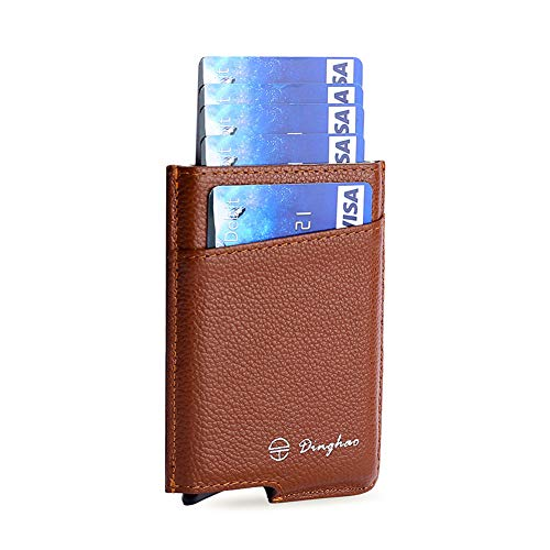 fa402b4326c Dinghao RFID Blocking Slim Money Clip Aluminum Wallet Automatic Pop-up Card  Case …