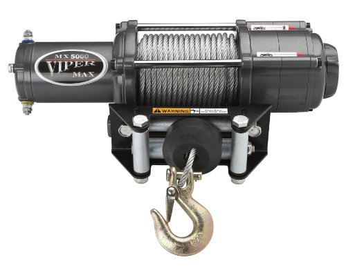 Viper Max 6000lb Utv Wide Spool Winch With Stainless Steel And 65 Of Cable