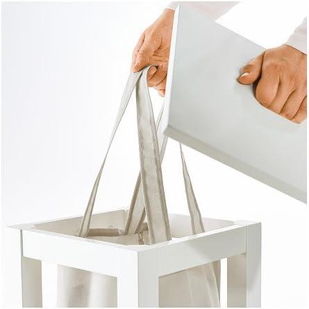 IKEA Hjälmaren - bolsa de lavandería con el soporte, blanco - 35 l ...