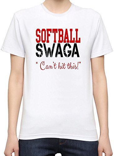 Softball Swagga Slogan Women S Personalized T Shirt  Custom  Printed Tee  100  Superior Quality Soft Cotton  Premium Quality Dtg Printing  Unique Clothing For Women By Byronz Clothing Large