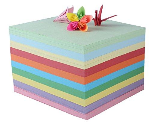 Colorful origami pieghevole artigianale carta 200 fogli 15 x 15 cm HEOLI