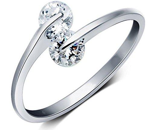 Karatcart Platinum Plated Trendy Elegant Austrian Crystal Adjustabl