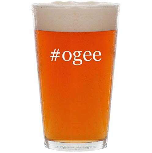 - #ogee - 16oz Hashtag Pint Beer Glass